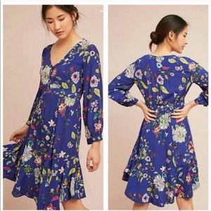Anthro Maeve Maplewood floral flowy midi dress